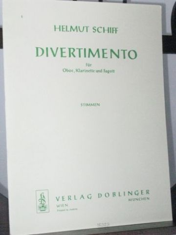 Schiff H - Divertimento for Oboe Clarinet and Bassoon